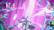 Miko and Five attack Skeleton Army