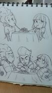 Noodle Incident with Miko, Five and Mitch by kawaiimelodies