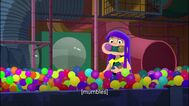Miko in ballpit