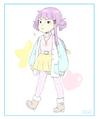 Pastel Fashion Miko by kawaiimelodies