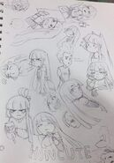 Miko Sketches by kawaiimelodies