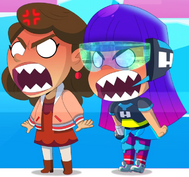 Nica and Miko mad in Chibi