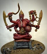 Yara Aranis Temple Guardian Statue - the daughter of the Red Emperor and a barbarian demon - www.infinity-engine
