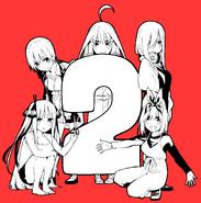 5Toubun no Hanayome Temporada 2 poster de anuncio por Negi Haruba