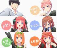 5Hanayome Anime II personajes