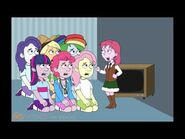 Equestria Girls watch South Park at school and get grounded
