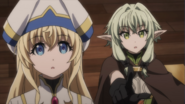 Priestess and High Elf Archer surprised