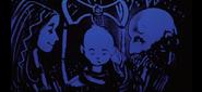 Une Saga à la Cendre - Faye, Atreus, et Kratos