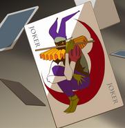 Q's joker card