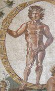 Urano rappresentazione ruota zodiaco mosaico romano