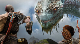 God of War - Screenshot - Mimir Jörmungandr