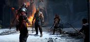 Magni and Modi face up against Kratos and Atreus