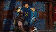 Kratos vor Jötnar-Schrein