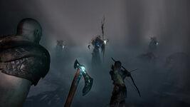 God of War - Screenshot - Kampf Hexe