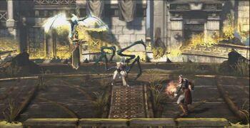 Megera tisifone demone scontro kratos GoW Ascension