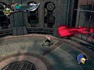 Kratos en la sala giratoria