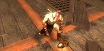 Kratos con la mascara de Caronte