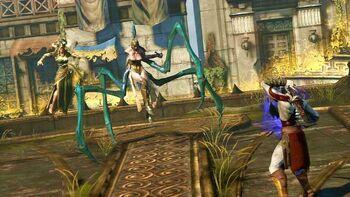 Megera tisifone demone scontro kratos GoW Ascension alternativa 3