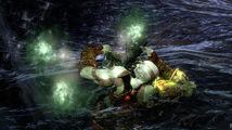 Kratos siendo atacado por un Alma Descarriada en el Río Estigia