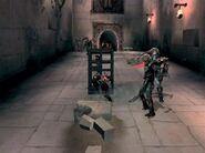 Kratos empujando la jaula