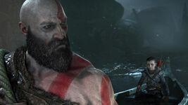 God of War - Screenshot - Kratos & Atreus