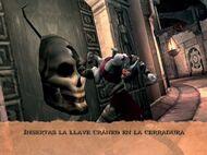 Kratos insertando el craneo