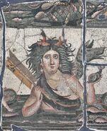Talassa rappresentazione mosaico romano