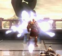 Kratos obteniendo orbes azules