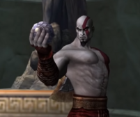 Kratos with the Amulet