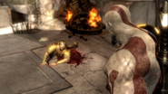 Elio cerca convincere Kratos a salvarlo