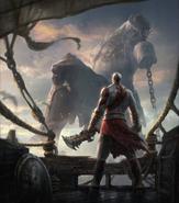 Kratos arrives on Delos