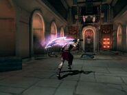 Kratos llendo a aceptar el sacrificio