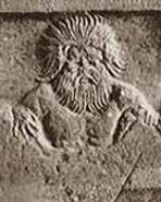 Ourea raffigurazione incisione bassorilievo
