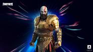 Kratos con armadura en fortnite
