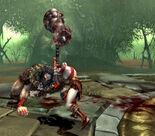 Kratos con el Martillo del Barbaro