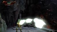Kratos obteniendo orbes verdes
