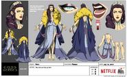 Gods and Heroes Model Sheet Hera Costume Fleece