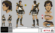 Gods and Heroes Model Sheet Heron Costume Olympus Armor Quiver