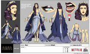 Gods and Heroes Model Sheet Hera 01