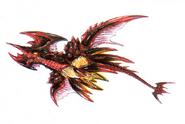 Concept Art - Godzilla vs. Destoroyah - Destoroyah Flying 1