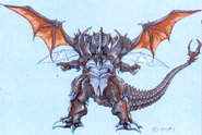 Concept Art - Godzilla vs. Destoroyah - Destoroyah 10