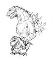 Concept Art - Godzilla 2000 Millennium - Godzilla 12