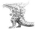 Concept Art - Godzilla 2000 Millennium - Godzilla 28
