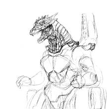 Concept Art - Godzilla Against MechaGodzilla - Kiryu 45.png