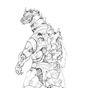 Concept Art - Godzilla Against MechaGodzilla - Kiryu 36.png