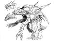 Concept Art - Godzilla 2000 Millennium - Orga 32