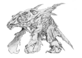 Concept Art - Godzilla 2000 Millennium - Orga 27