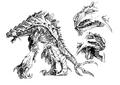 Concept Art - Godzilla 2000 Millennium - Orga 106