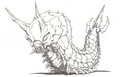 Concept Art - Godzilla vs. Mothra - Battra Larva 4