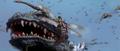 Godzilla vs. Megaguirus - Godzilla has his face swarmed